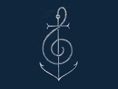Anchor Music tattoo, I NEED THIS! it would look super pretty in like navy blue ink :)