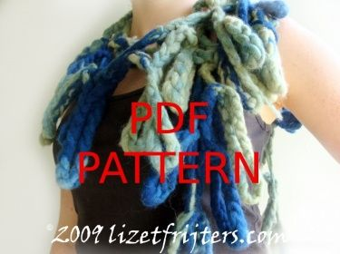 Crochet and Felted Coral Scarf PDF Tutorial Do it Yourself Pattern
