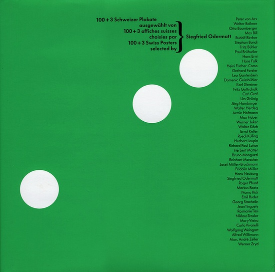 100+3 Swiss Posters selected by Siegfried Odermatt