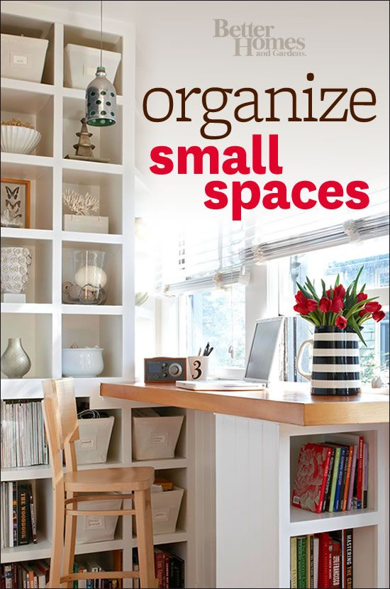 You'll love our helpful small space organization ideas! Get them here: www.bhg.com/...