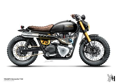 Triumph Bonneville / S383 Motorcycles // Moto 29 by Holographic Hammer print