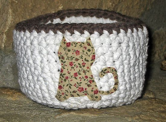 Basket  Handmade Basket Crochet Basket Bowl by HandmadeByAnnabelle, $15.00