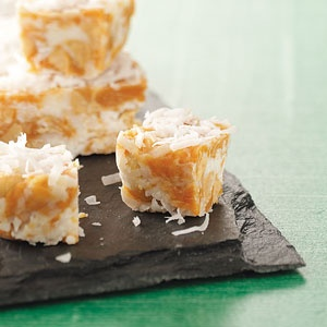 Caramel and coconut. What could be better?