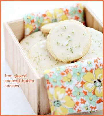Lime Glazed Coconut Butter #Cookies