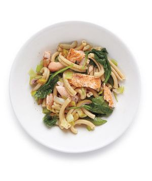 Pasta With Salmon, Spinach, and Olives Recipe