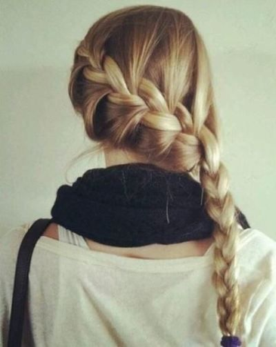 I love it when my hair is braided, and french braids are the best! :)