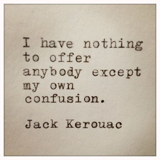 Jack Kerouac Quote Typed on Typewriter and Framed by farmnflea, $14.00