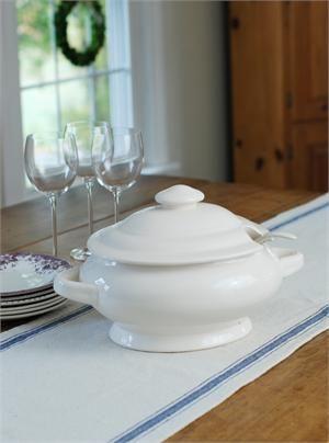 Vintage Style Creamware Soup Tureen