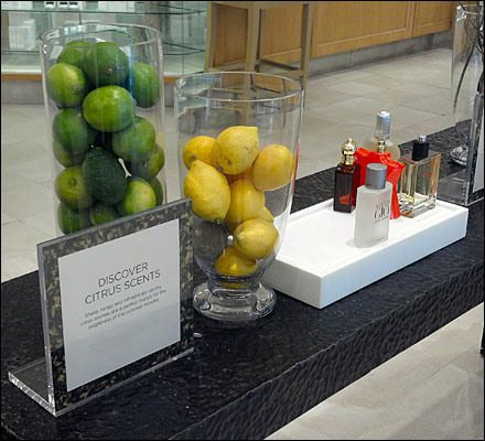 Fragrant Fresh Fruit as Perfume Prop