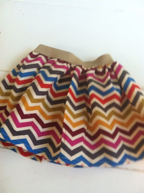 Fall Chevron Toddler Skirt by MrsWalshSews on Etsy, $13.00