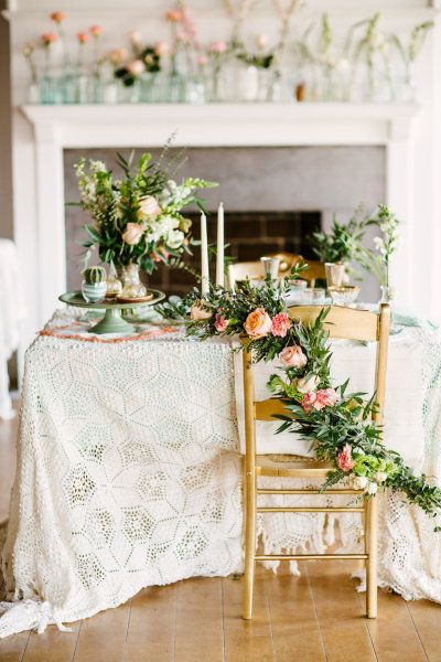 Lace and roses and cake stands, oh my. Photography by christinabernales... Styling + Floral Design by erinostreicher.com  Read more - www.stylemepretty...
