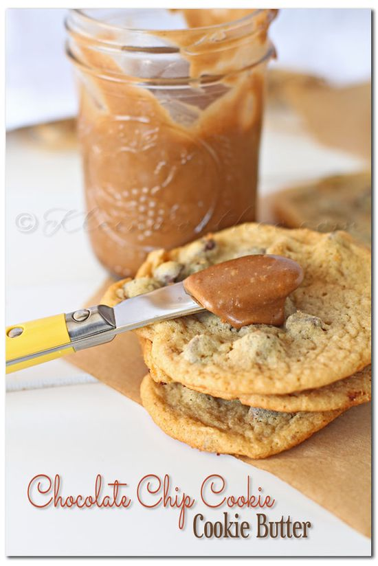 Homemade Chocolate Chip Cookie Cookie Butter - Literally made with chocolate chip cookies. Does it get any better?