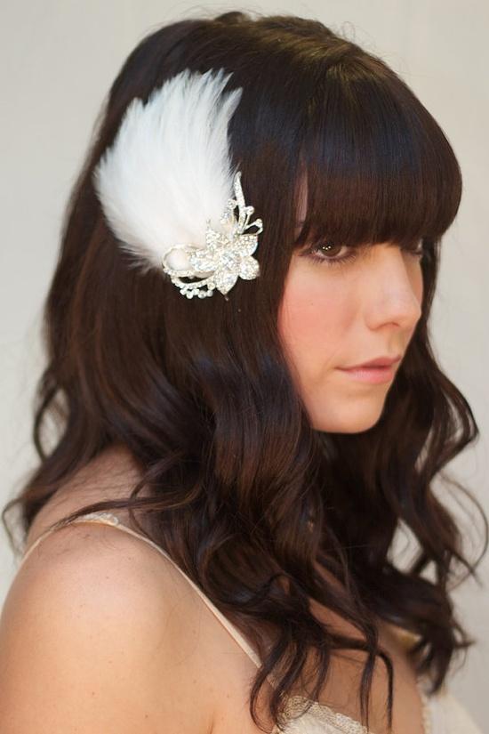 #wedding #hair #accessory #feathers