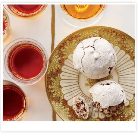 Chocolate-Hazelnut Clouds with Cocoa Nibs // More Chocolate Cookie Recipes: www.foodandwine.c... #foodandwine