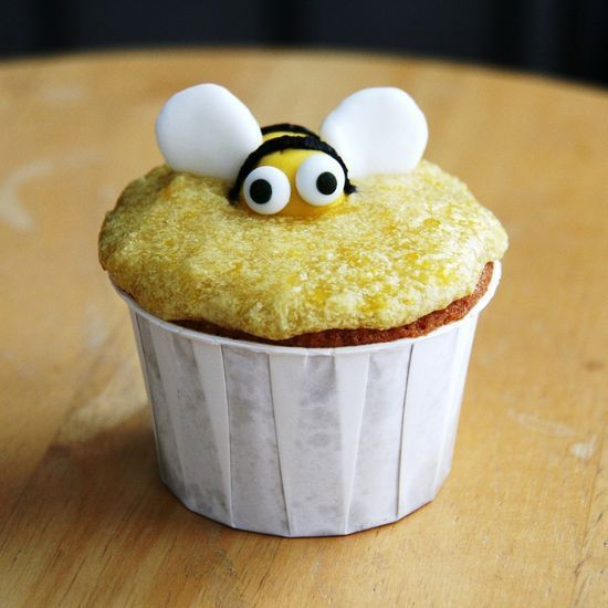 honey bee cornmeal cupcakes with sweet corn frosting. #better health naturally #health food #health tips #health #health guide #health tips #better health solutions