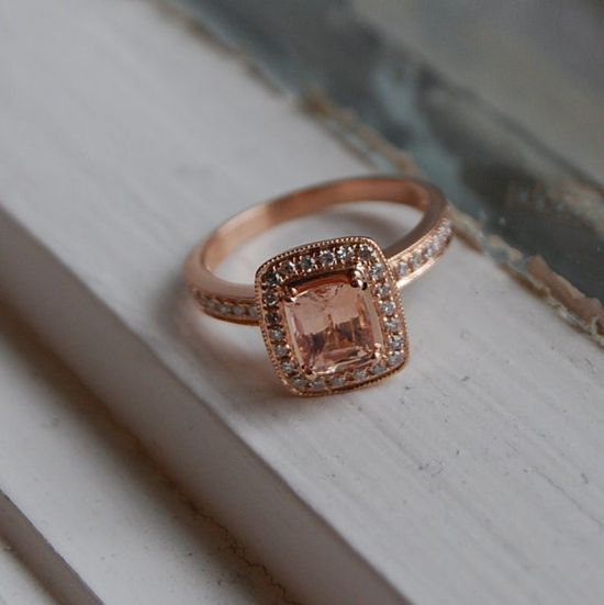 Champagne Sapphire Rose Gold Ring.