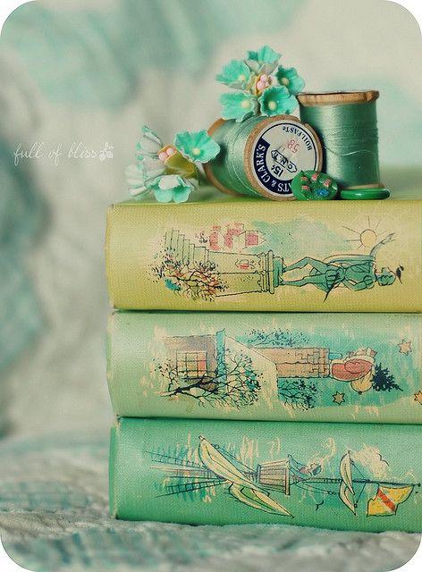 vintage treasures #books #thread #buttons