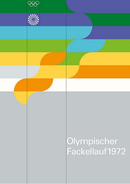 Olympischer Fackellauf 1972 by Otl Aicher.