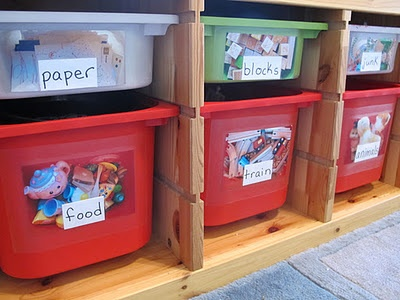 Lots of ideas for toy organization