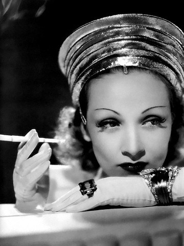 Marlene Dietrich an actress of the art deco era