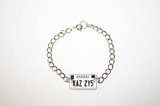 Supernatural  Impala License Plate Charm by fortysecondseal, $8.00