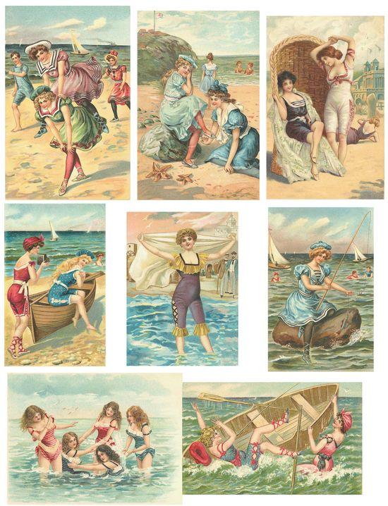 Free vintage collage sheets #vintage