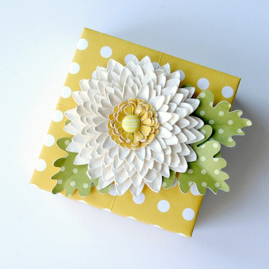 Fun Handmade Paper FLOWER Decorated ORIGAMI Gift BOX