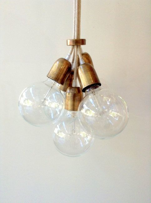 Handmade Pendant Light Chandelier Edison by LightCookie on Etsy, $35.00. @HOME for your bathroom?