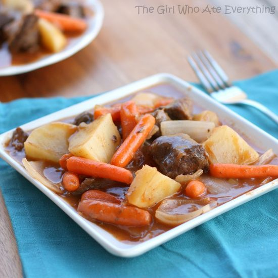 Oven Baked Stew (or Slow Cooker) - The Girl Who Ate Everything
