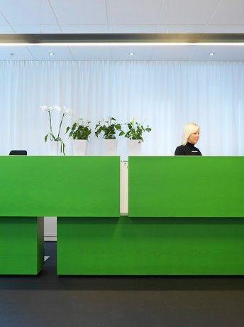 Swedish Avanza Bank's reception desk