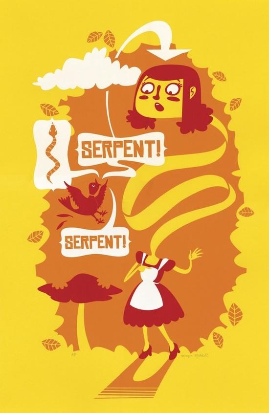Alice in Wonderland screen print