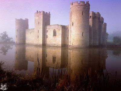 Misty Bodiam castle England