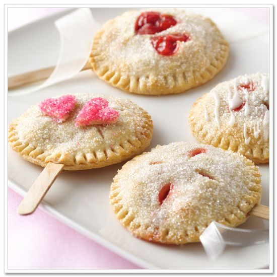 Pie pops made from Store-bought pie crust.