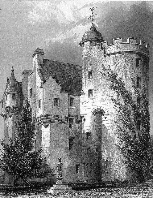 Midmar Castle, engraving