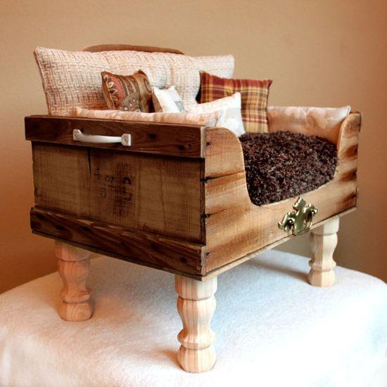 Custom Pet Bed Victor Pet Lounger by designercraftgirl on Etsy, $900.00