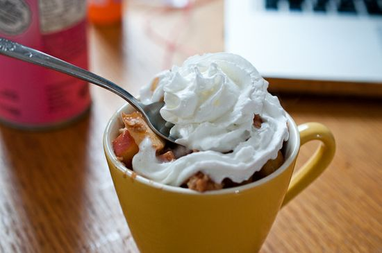 Healthy Apple Pie… In A Cup!  {the perfect single-serving treat!} #apple #recipes