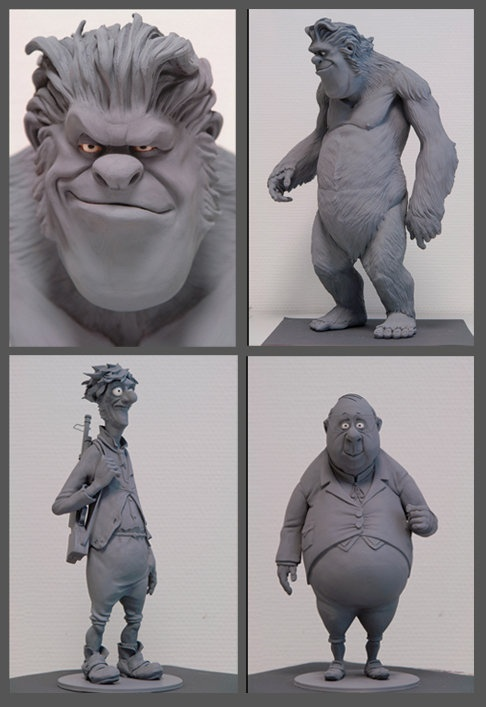 Character Maquettes for Lissy and the wild Emperor 2005