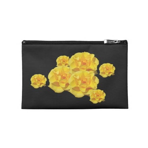 Yellow Rose Blooms Travel Accessory Bag