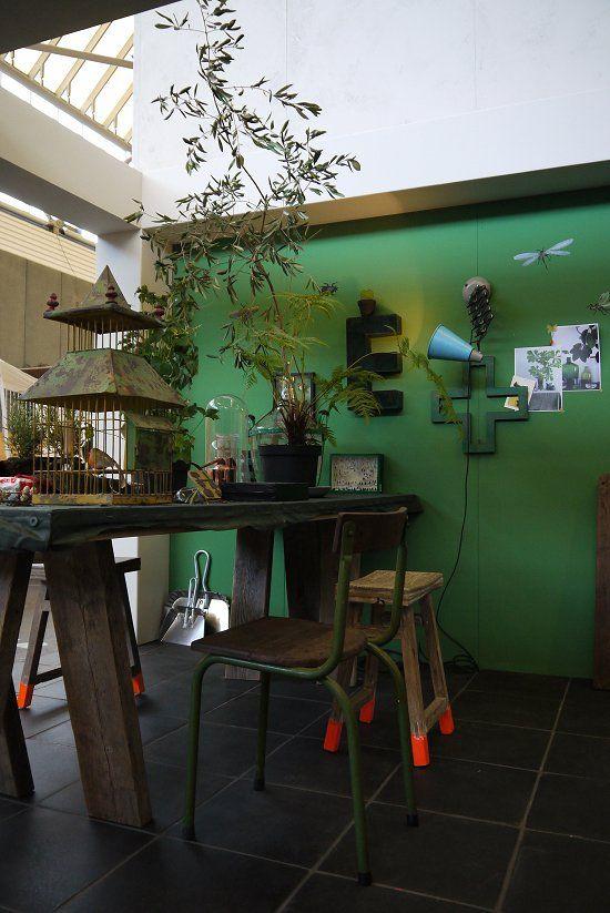 Plants, green & orange    VT Wonen home at the Woonbeurs 2012