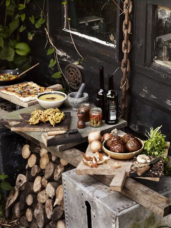 Rustic Food Display / Photographer Andrew Montgomery, UK