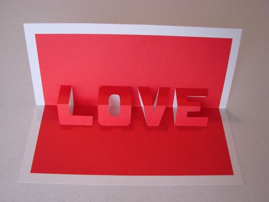 DIY pop-up Love card