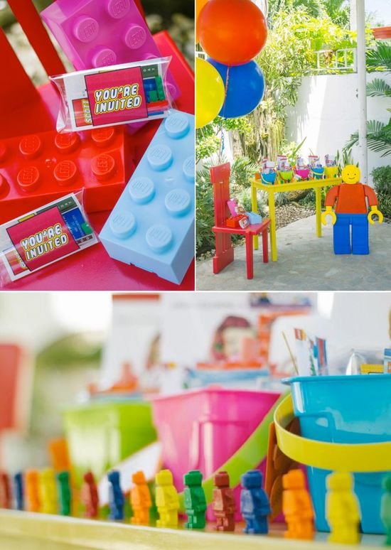 LEGO THEMED BIRTHDAY PARTY with so many cute ideas! Via KAras Party Ideas KarasPartyIdeas.com #lego #boy #girl #themed #birthday #party #ideas #planning #supplies #decor #idea