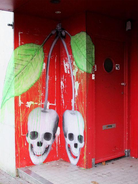 Crazy looking door in Amsterdam by Ludo