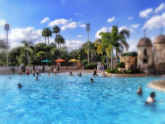 Pool at Caribbean Beach Resort.  6 months and we will be swimming here! (hopefully, if the weather is nice!)