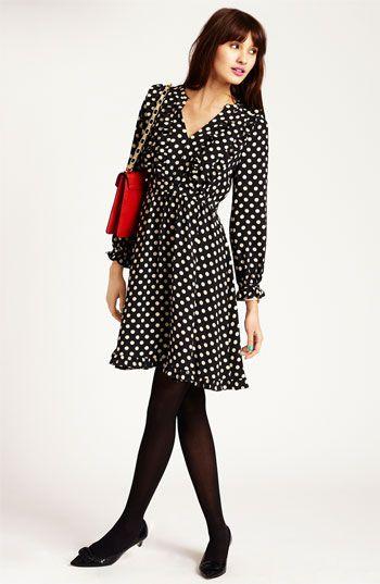 kate spade new york silk dress & accessories