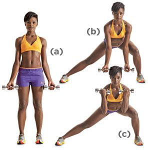 The No-Crunch Abs Workout - All you need is a pair of dumbbells.  Perfect for the gym!
