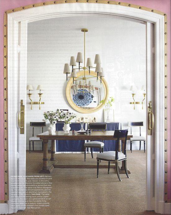 Home of Carolina Herrera Baez.  Elle Decor, Those doors!