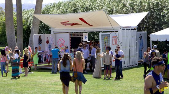 Lacoste L!VE Pop-Up container by aruliden