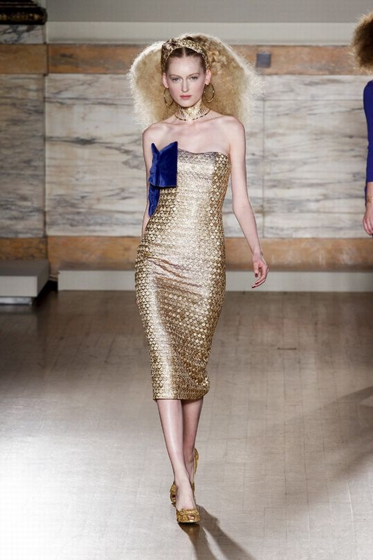 golden shining by L'Wren Scott / LFW