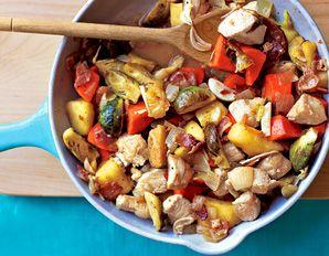 Chicken, Sweet Potato and Apple Skillet
